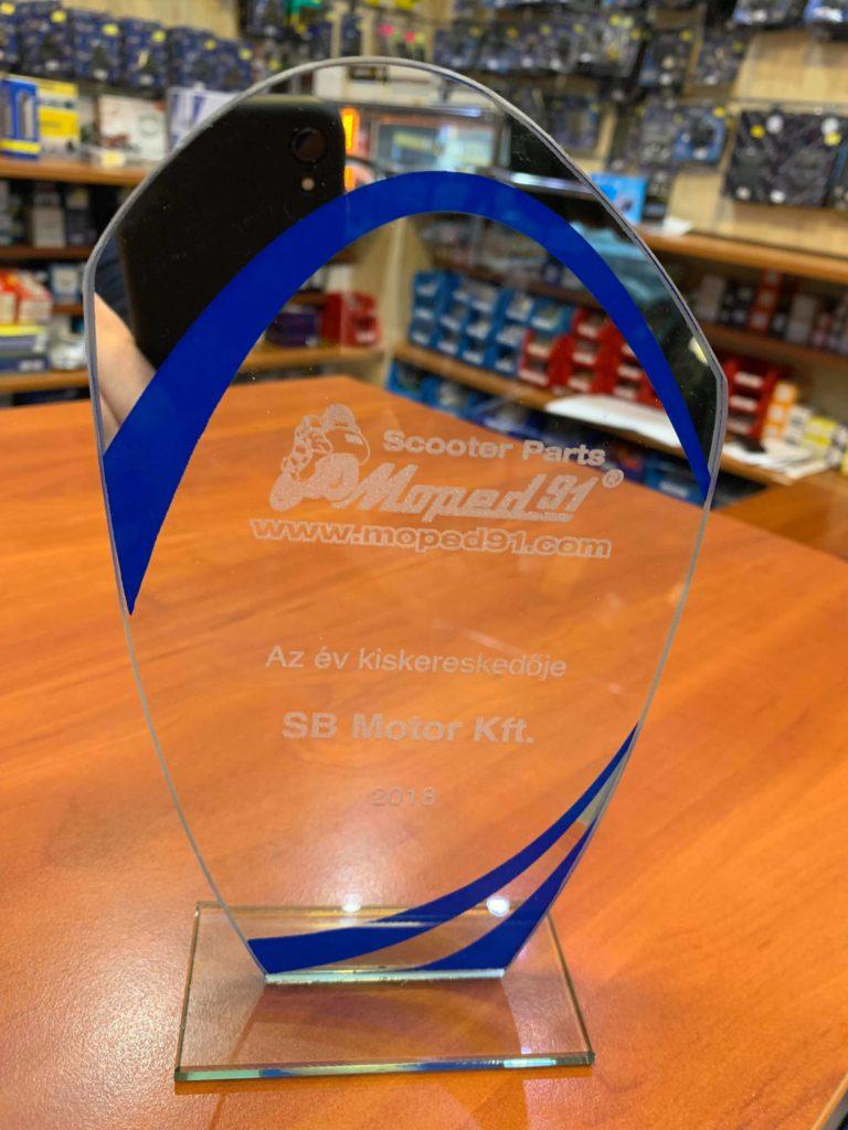 MotoShop - Az év kiskereskedője díj
